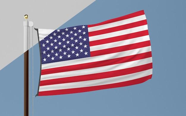 Maszt flagowy z flagą stanów zjednoczonych