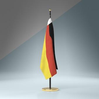 Maszt flagowy z niemiecką flagą
