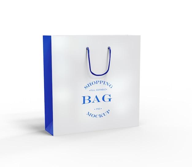 Matowa papierowa torba na zakupy z makietą z uchwytem liny