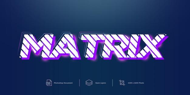 Matrix tekst efekt projekt styl warstwy