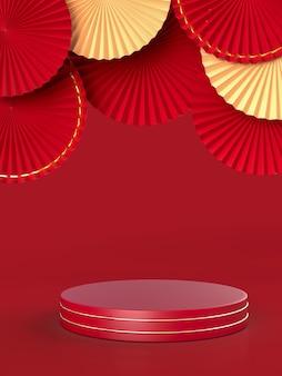 Medalion wachlarzowy jako dekoracja chińskiego nowego roku