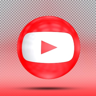Media społecznościowe 3d kolekcja balonu z ikoną szablon outube