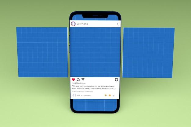 Media społecznościowe i makieta smartfona