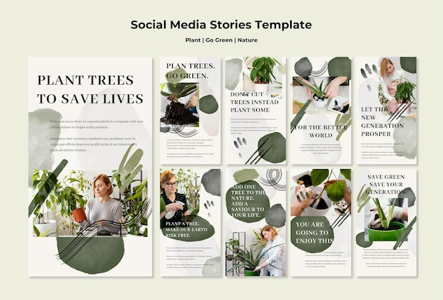 Media społecznościowe plant go green nature