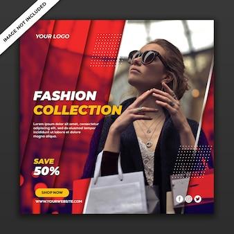 Media społecznościowe post instagram szablon fashion sale collection