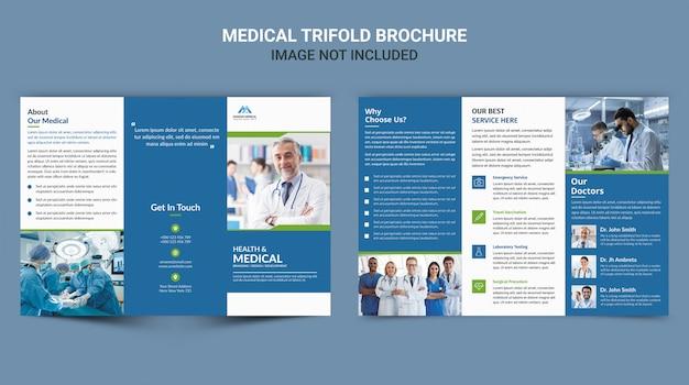 Medyczna broszura składana na trzy części