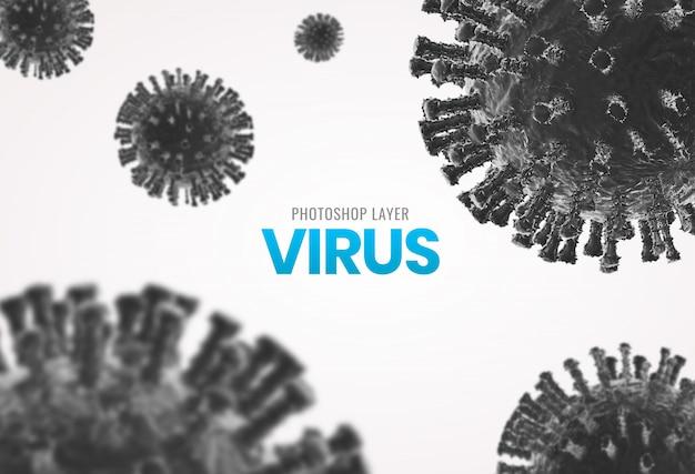 Medyczne mikroskopijne wirusowe komórki zamykają w górę tła