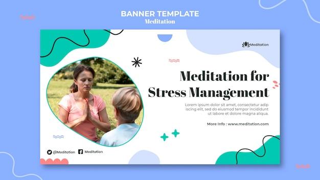 Medytacja na baner radzenia sobie ze stresem
