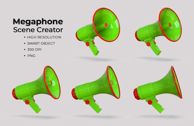 Megaphone scene creator