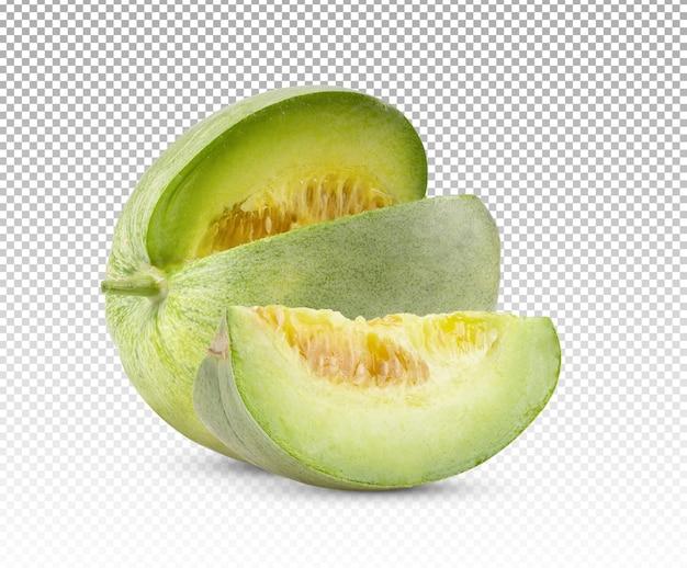 Melon jabłko na białym tle