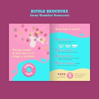 Menu broszury śniadaniowej