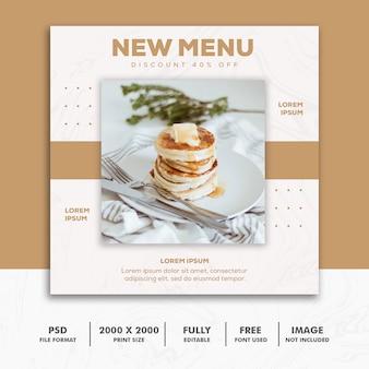 Menu placek banner food restaurant cake