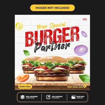 Menu specjalne media społecznościowe jedzenie media społecznościowe szablon projektu posta na instagramie