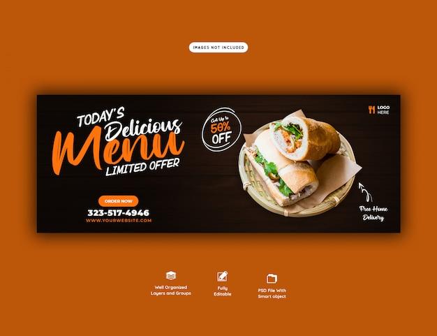 Menu sprzedaży żywności dla szablonu banera internetowego