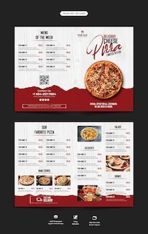 Menu żywności i szablon broszury bifold w restauracji