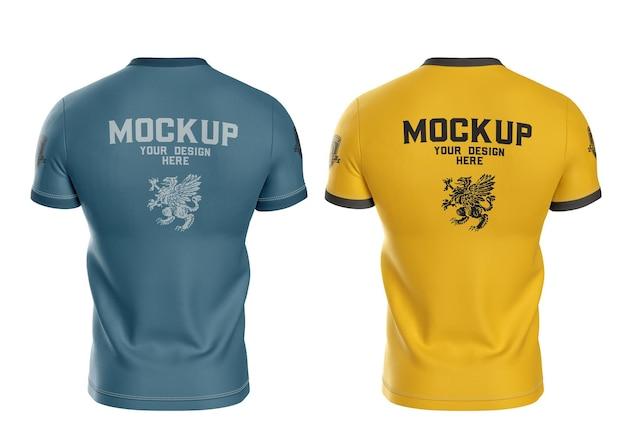 Męska koszulka sportowa makieta z tyłu