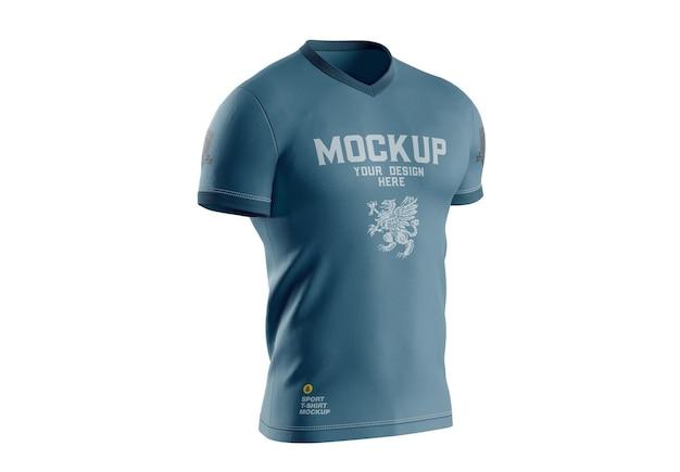 Męska koszulka sportowa makieta