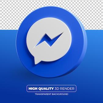 Messenger ikona 3d renderowania na białym tle