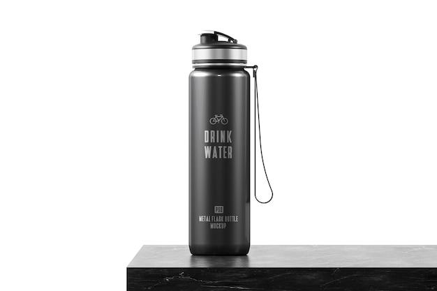 Metalowa butelka termosu do makiety wody