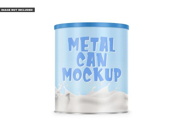 Metalowa puszka makieta