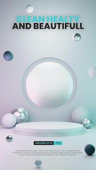 Metalowe podium abstrakcyjne w szarym kolorze