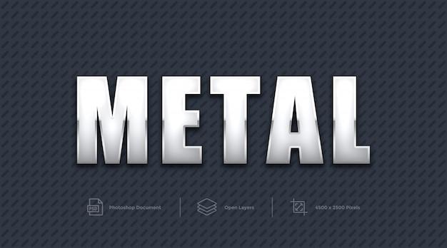Metalowy efekt tekstowy projekt photoshop layer style effect