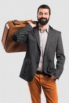 Mężczyzna trzyma teczkę