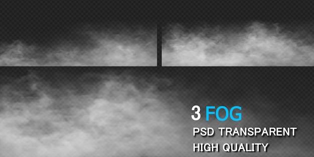 Mgła dymu ziemi renderowania projektu na białym tle renderowania