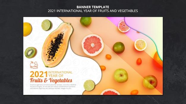 Międzynarodowy rok banerów owoców i warzyw
