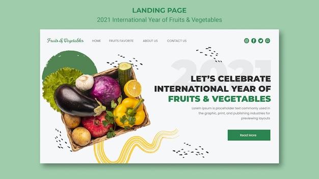 Międzynarodowy rok szablonu sieci web owoców i warzyw