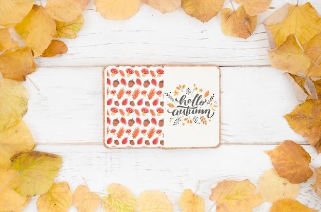 Mieszkanie leżało cześć jesień cytat na notatniku