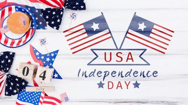 Mieszkanie świecki dzień niepodległości makieta z lato