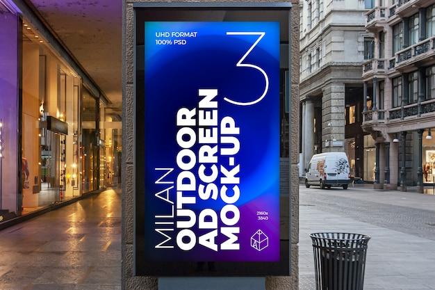Milan outdoor advertising screen