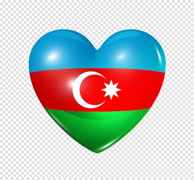Miłość azerbejdżan, symbol flagi serca