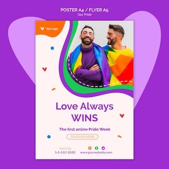 Miłość zawsze wygrywa szablon plakatu