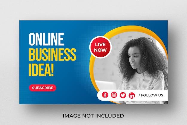 Miniatura wideo z youtube na warsztaty poświęcone pomysłom na biznes online