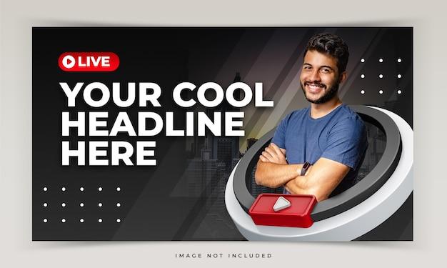 Miniatura youtube dla szablonu promocji warsztatów na żywo