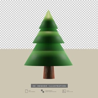 Minimalistyczna choinka ilustracja 3d
