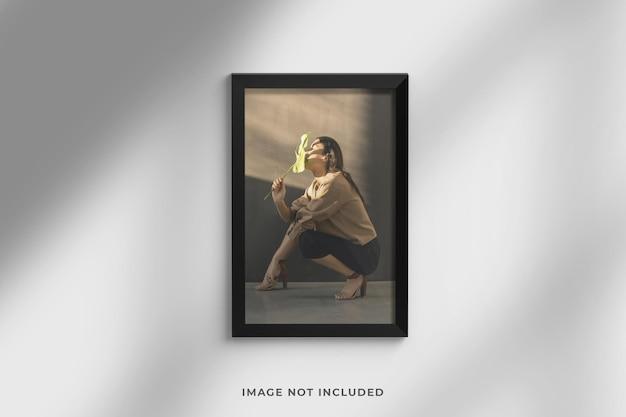 Minimalistyczna i elegancka makieta zdjęć w ramce