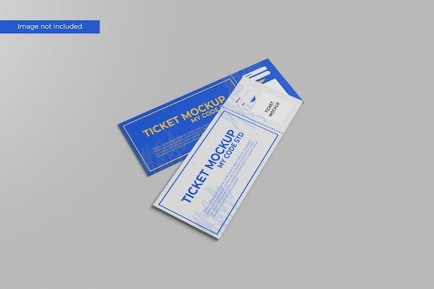 Minimalistyczna makieta biletu