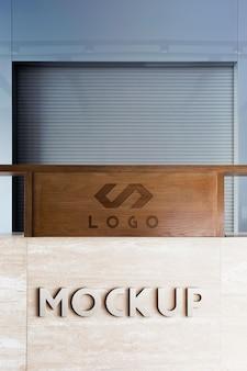 Minimalistyczna makieta brandingu korporacji