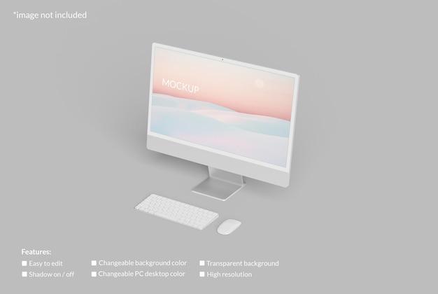 Minimalistyczna makieta ekranu komputera stacjonarnego