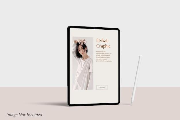 Minimalistyczna makieta ekranu tabletu premium psd