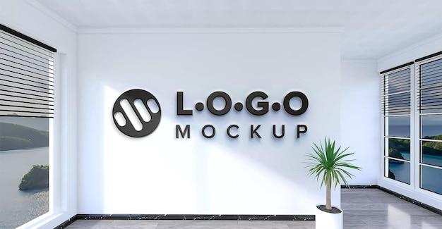 Minimalistyczna makieta logo firmy w kolorze czarnym