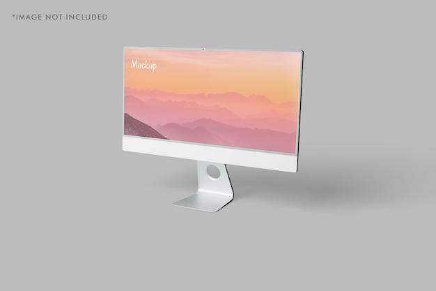 Minimalistyczna makieta monitora pc