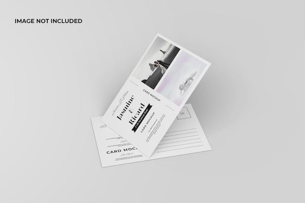 Minimalistyczna makieta pocztówki