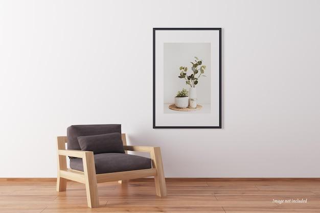 Minimalistyczna makieta ramki portretowej