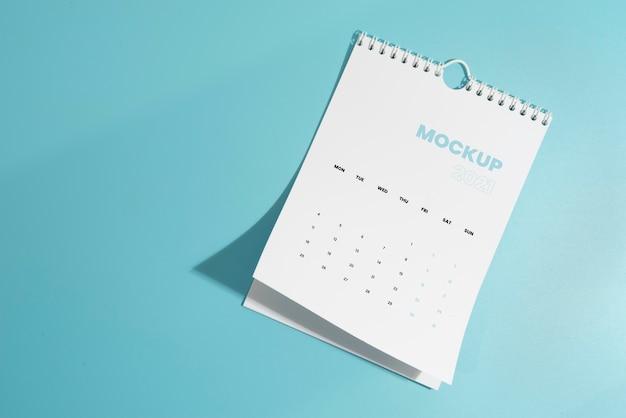 Minimalistyczny asortyment kalendarzy makiet