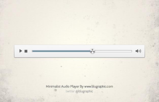 Minimalistyczny odtwarzacz audio