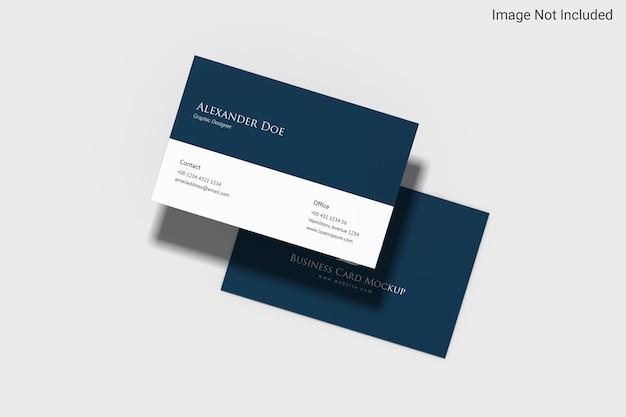 Minimalistyczny projekt makiety wizytówek krajobrazowych w renderowaniu 3d